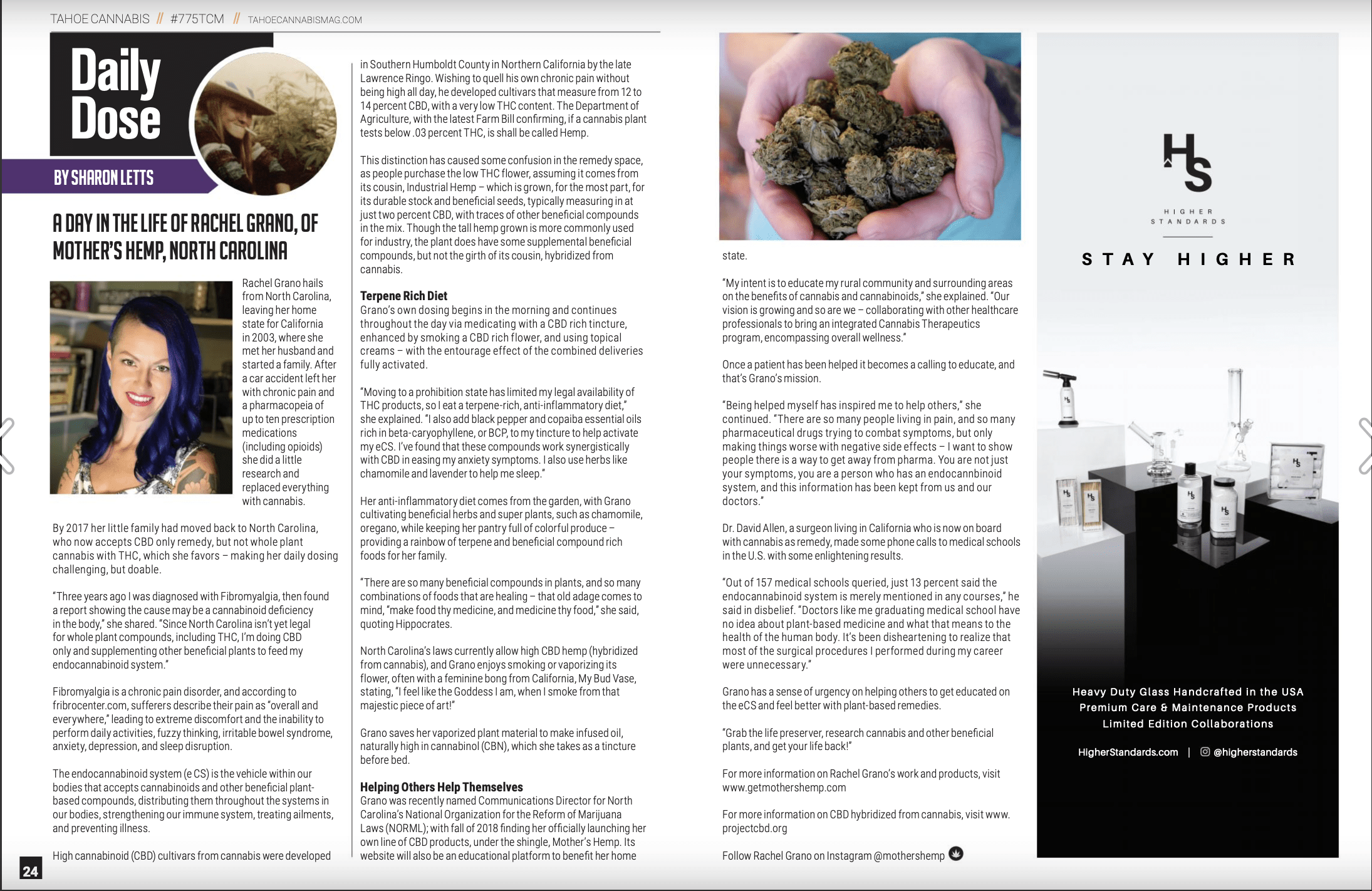Mothers Hemp featured in Tahoe Cannabis Article