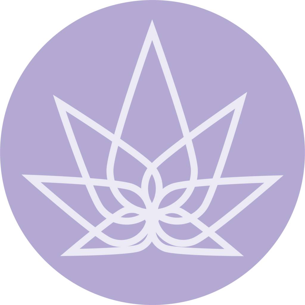 Mothers Hemp - circle logo - purple