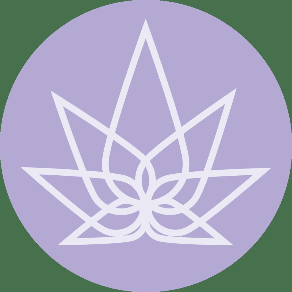 Mothers Hemp - circle logo - purple