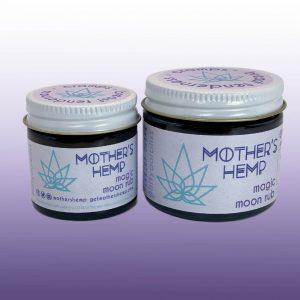 Magic Moon Rub Jars of Salve by Mother's Hemp